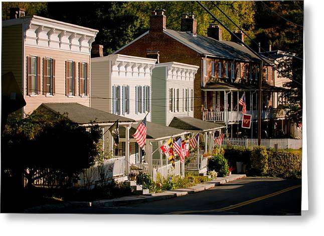 Catonsville Greeting Cards - Historic Oella Maryland Greeting Card by Geoffrey Baker