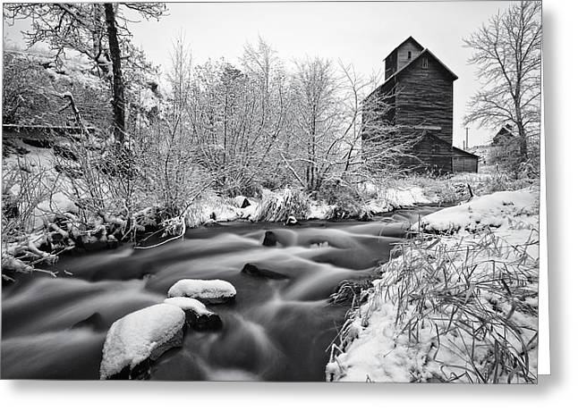 Winter Scene Photographs Greeting Cards - Historic Oregon Greeting Card by Darren  White