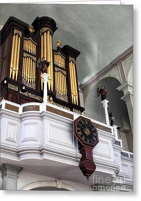 Historic England Greeting Cards - Historic Organ Greeting Card by John Rizzuto