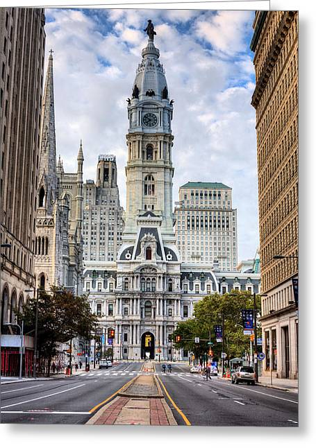 City Hall Greeting Cards - Historic Philly Greeting Card by JC Findley