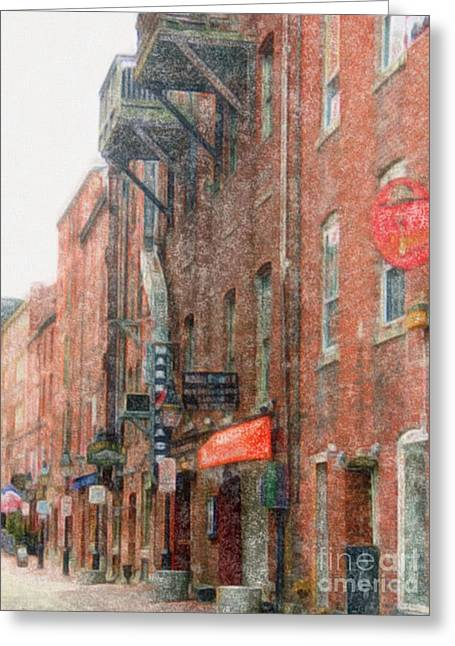 Old Maine Houses Greeting Cards - Historic Portland Maine Greeting Card by Marcia Lee Jones