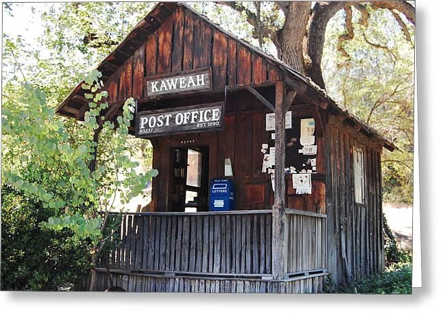 Kaweah Post Office Greeting Cards - Historic Post Office Greeting Card by Lyn Trask