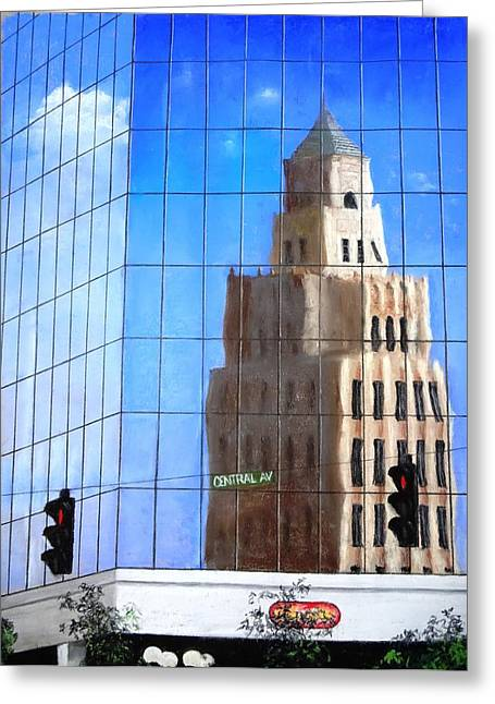 Downtown Pastels Greeting Cards - Historic Reflection Greeting Card by Vincent Mancuso