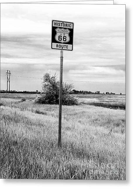 Midwest Artist Greeting Cards - Historic Route 66 Greeting Card by John Rizzuto