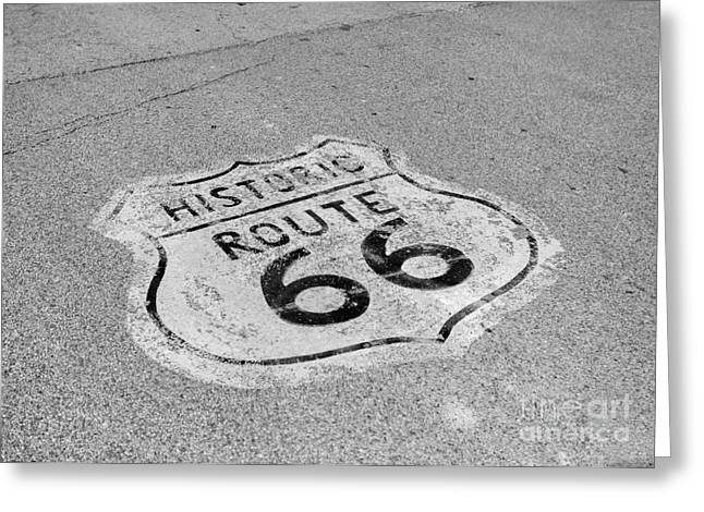 Kaypickens.com Photographs Greeting Cards - Historic Route 66 Greeting Card by Kay Pickens