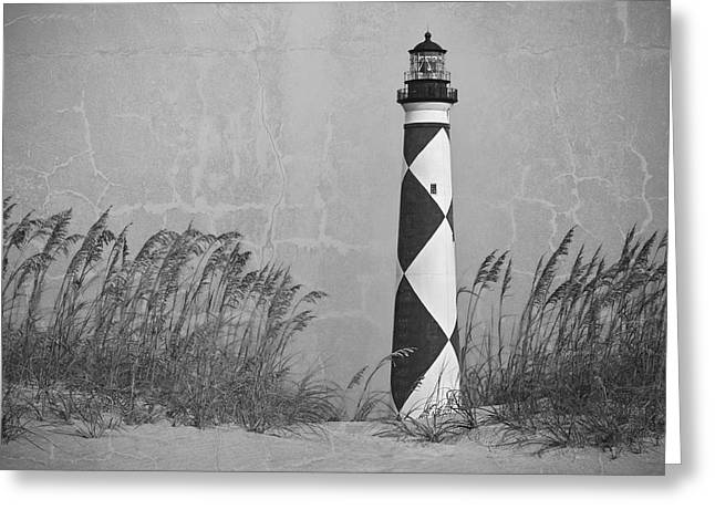 Antique Straight Pattern Greeting Cards - Historic Sentinel of the Coast Greeting Card by Bob Decker