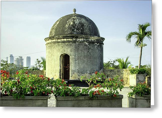 Historic Spanish Colonial Walls Greeting Card by Jerry Ginsberg