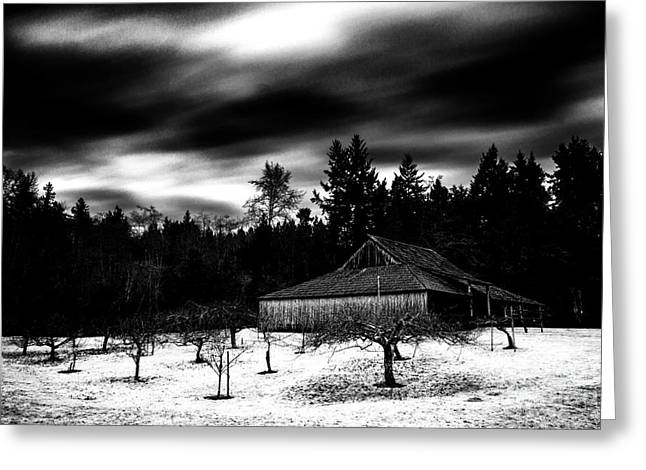 Commercial Photography Pyrography Greeting Cards - Historic Stewart Farm Greeting Card by Jack Vainer