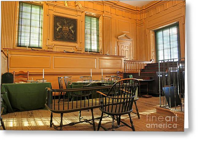 Philadelphia History Greeting Cards - Historic Supreme Court Greeting Card by Olivier Le Queinec