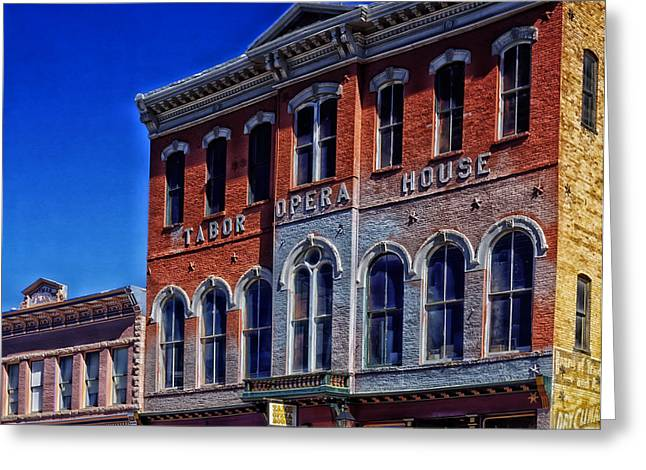 Leadville Greeting Cards - Historic Tabor Opera House in Leadville Colorado Greeting Card by Mountain Dreams