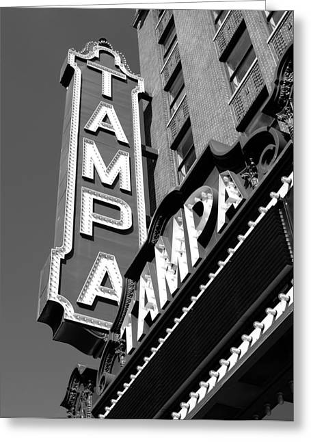 Movie Theater Greeting Cards - Historic Tampa Greeting Card by David Lee Thompson