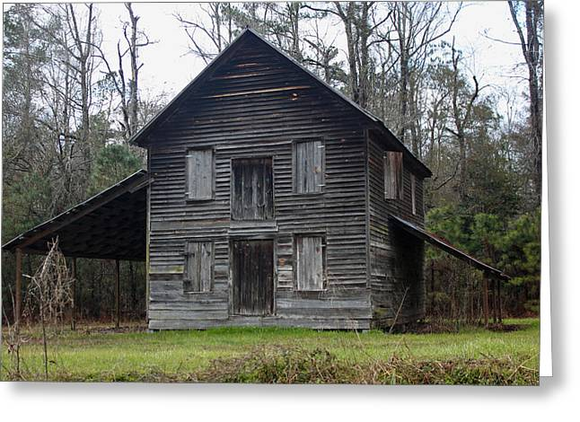 Old House Photographs Greeting Cards - Gaskins Family Tenant House - Gallivants Ferry Greeting Card by Suzanne Gaff