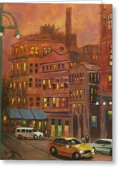 City Lights Greeting Cards - Historic Third Ward 2 Greeting Card by Tom Shropshire