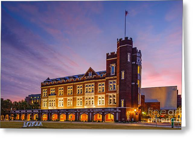 Name Gifts Greeting Cards - Historic Thomas Hall at Loyola University - New Orleans Louisiana Greeting Card by Silvio Ligutti
