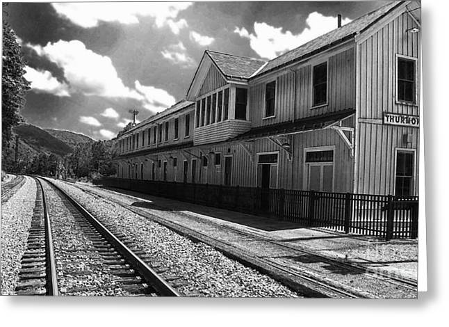 Rail Line Greeting Cards - Historic Thurmond Depot Greeting Card by Thomas R Fletcher
