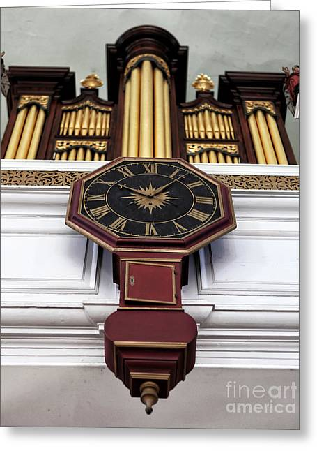 Historic England Greeting Cards - Historic Time in Boston Greeting Card by John Rizzuto