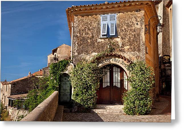 Historic Town Of Eze, Provence, France Greeting Card by Brian Jannsen