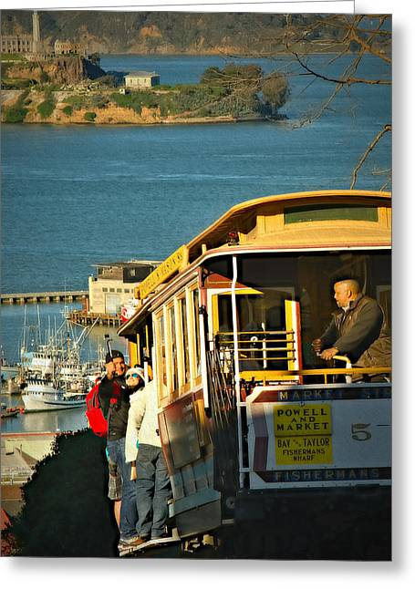 Marin County Greeting Cards - Historic Trolley Greeting Card by See My  Photos