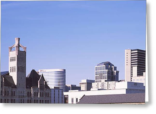 Architecture Of Nashville Greeting Cards - Historic Union Station Hotel Greeting Card by Panoramic Images