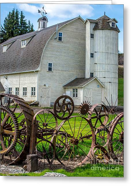 Dairy Barn Greeting Cards - Historic Uniontown Washington Dairy Barn Greeting Card by Gary Whitton