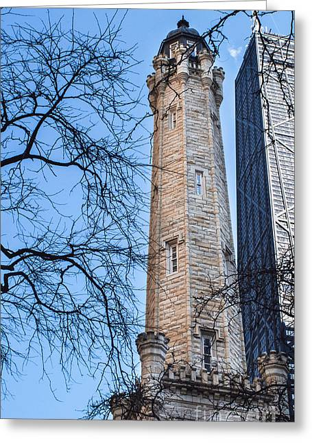 Magnificent Mile Greeting Cards - Historic Water Tower Greeting Card by Arlene Carmel