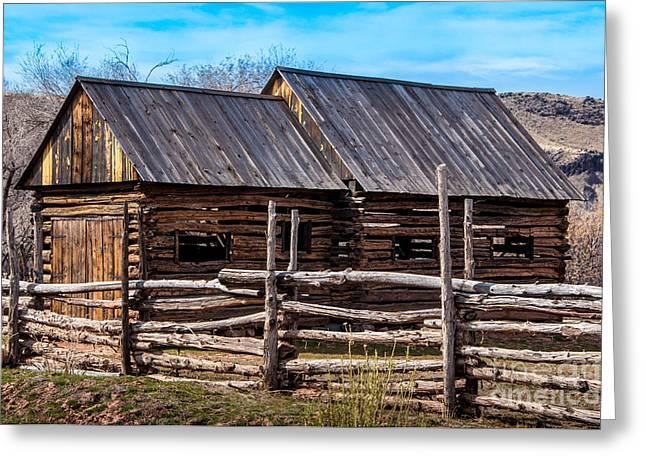Grafton Greeting Cards - Historic Wooden Barn - Grafton Ghost Town - Utah Greeting Card by Gary Whitton