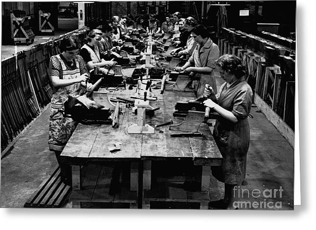 Recently Sold -  - Historical Images Greeting Cards - Historical 20st century people black and white artwork 115 Greeting Card by Boon Mee