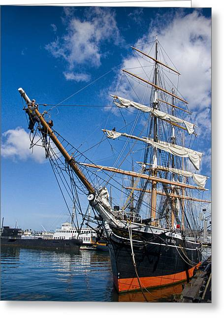 Old Ship Art Greeting Cards - Historical Boat The Star of India Greeting Card by Randall Nyhof