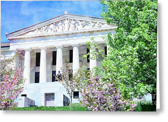 Historical Museum In Spring Greeting Card by Kathleen Struckle