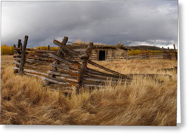 Historical Cabin Montana Greeting Card by Leland D Howard