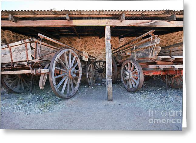 Wagon Greeting Cards - Historical Horse Drawn Carts Greeting Card by Bill  Robinson