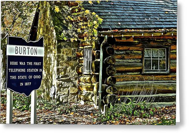 Burton Greeting Cards - Historical Landmark Greeting Card by Frozen in Time Fine Art Photography