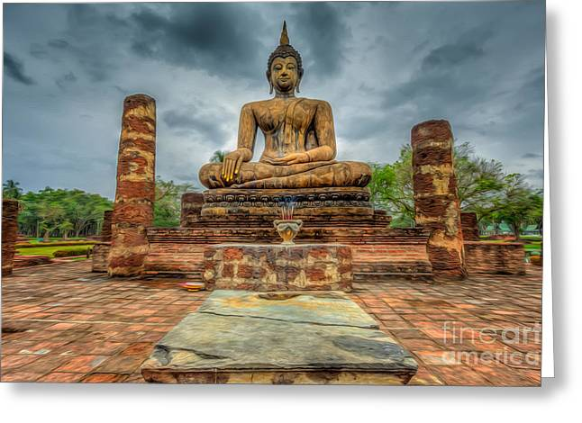 Bangkok Greeting Cards - Historical Park Greeting Card by Adrian Evans