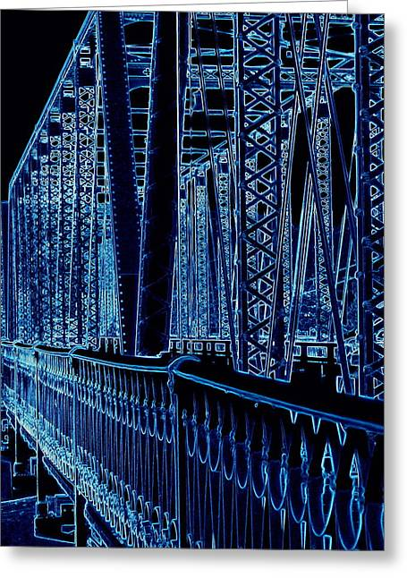 Historical Sixth Street Bridge Grand Rapids Michigan Greeting Card by Rosemarie E Seppala