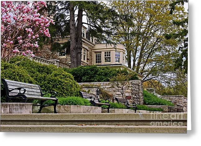 Historical Victorian Mansion In Burlington Greeting Card by Inspired Nature Photography Fine Art Photography
