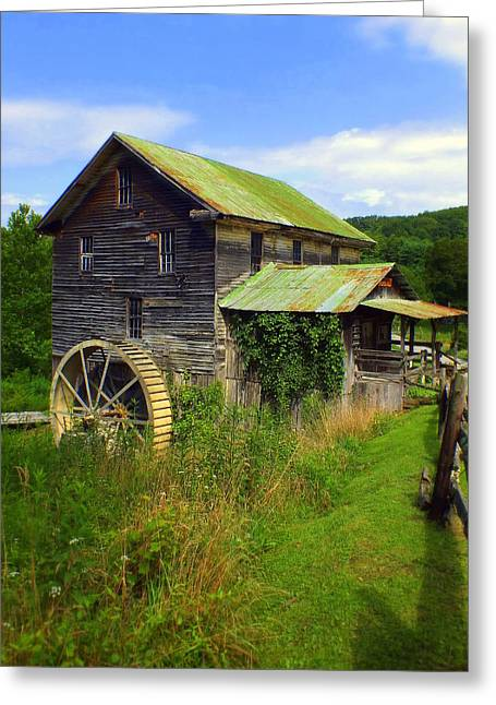 Historical Buildings Greeting Cards - Historical Whites Mill Greeting Card by Karen Wiles