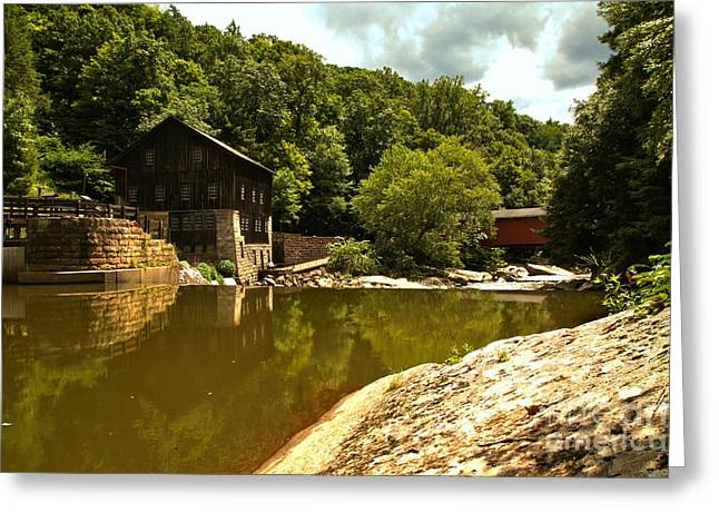 Mcconnells Mill Greeting Cards - History Along Slippery Rock Creek Greeting Card by Adam Jewell