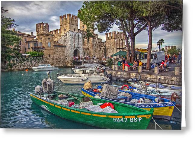 Geschichte Greeting Cards - History at Lake Garda Greeting Card by Hanny Heim