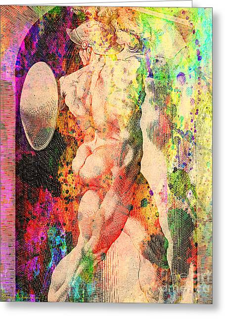 Michelangelo Greeting Cards - History Culture Of Nude Greeting Card by Mark Ashkenazi