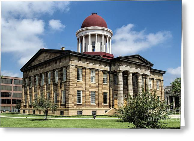 State Legislator Greeting Cards - History -  Illinois Old Capitol Building - Luther Fine Art Greeting Card by Luther Fine Art