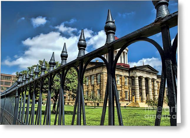 State Legislator Greeting Cards - History -  Illinois Old Capitol Building2 - Luther Fine Art Greeting Card by Luther  Fine Art