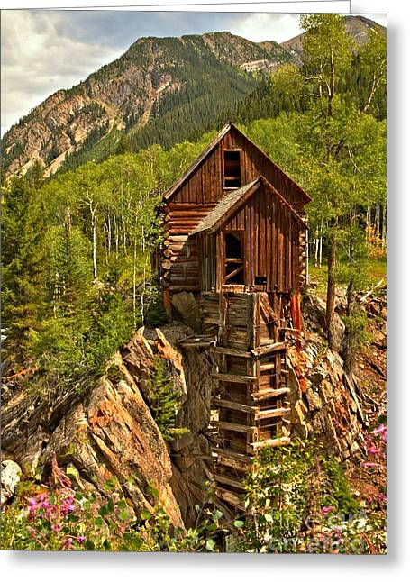Water Powered Generator Greeting Cards - History In The Mountains Greeting Card by Adam Jewell
