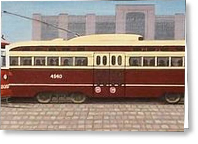 Pcc Greeting Cards - History of the Toronto Streetcar Greeting Card by Kenneth M  Kirsch