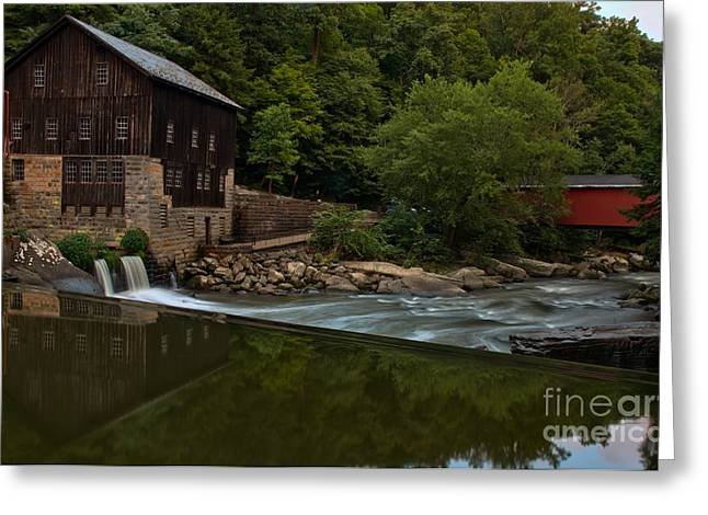 Mcconnells Mill Greeting Cards - History On Rock Creek Greeting Card by Adam Jewell