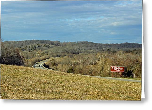 Natchez Trace Greeting Cards - History Road Greeting Card by Brenda Donko
