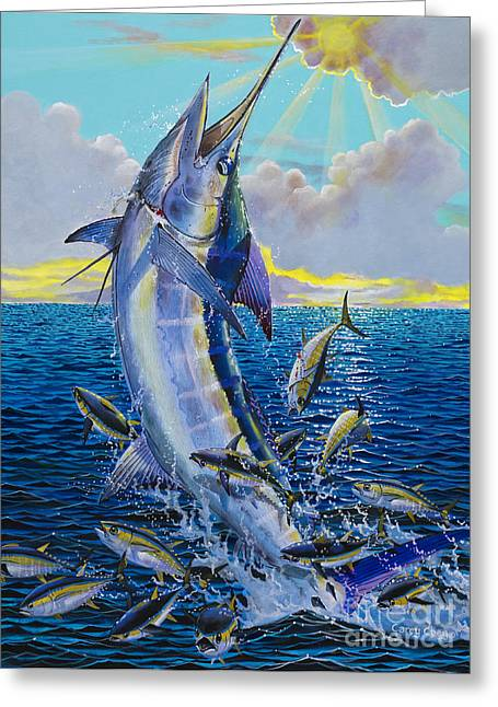 Sportfishing Boats Greeting Cards - Hit and Miss Off0084 Greeting Card by Carey Chen