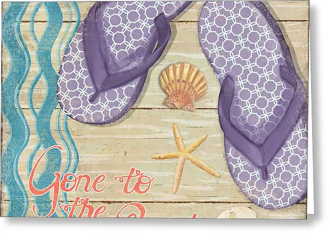 Beach Towel Greeting Cards - Hit the Beach I Greeting Card by Paul Brent