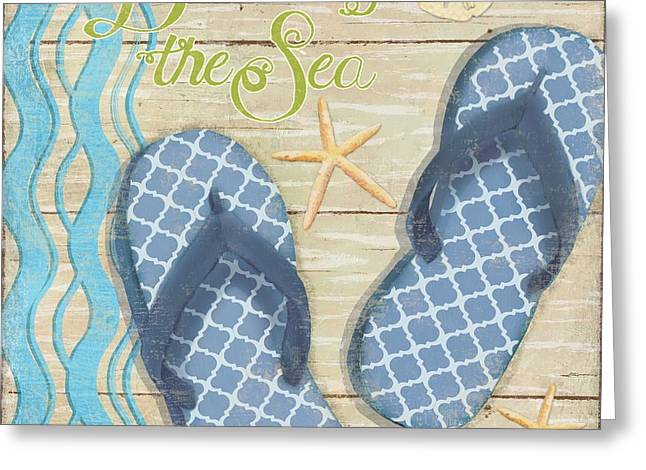 Hit The Beach IIi Greeting Card by Paul Brent