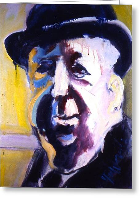 Old Tv Paintings Greeting Cards - Hitch Greeting Card by Les Leffingwell