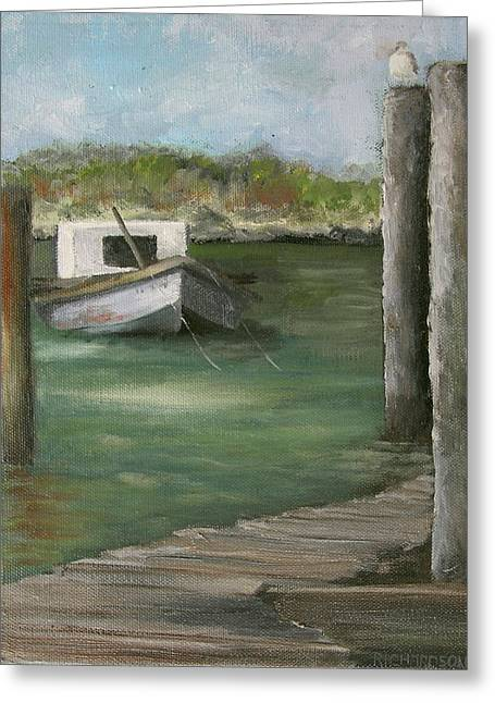 Apalachicola Seafood Greeting Cards - Hitched Greeting Card by Susan Richardson